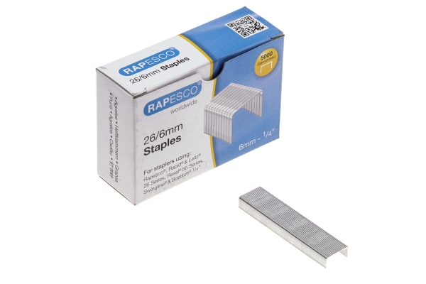 Product image for RAPESCO 26/6MM GALVANISED STAPLES BOX OF
