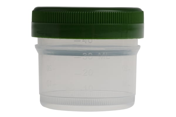 Product image for 40ml Histology specimen container, PP, G