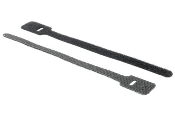 Product image for Black hook & loop cable tie,150x17mm