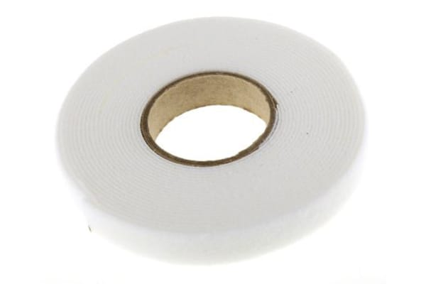 Product image for White hook & loop reel,5m x 16mm reel