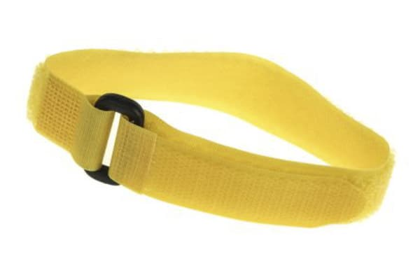 Product image for Yellow hook & loop buckle tie,300x20mm