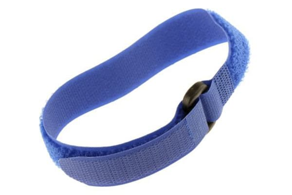 Product image for Blue hook & loop buckle tie,300x20mm
