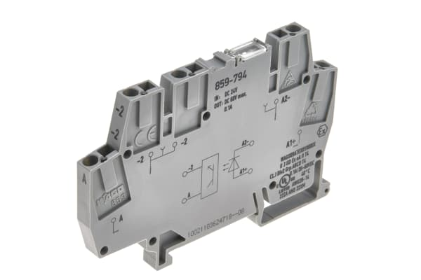 Product image for Wago, 859, 24 V dc Optocoupler Terminal Block, Clamp Termination