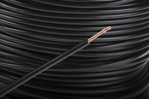 Product image for Black tri-rated cable 1.5mm 100m