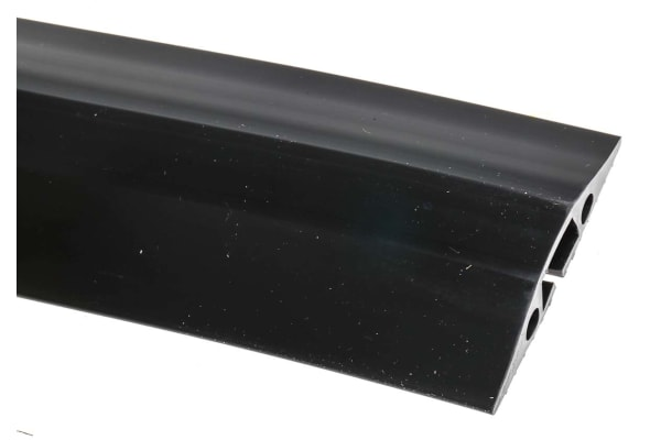 Product image for MEDIUM DUTY BLACK FLOOR CABLE COVER - 1.