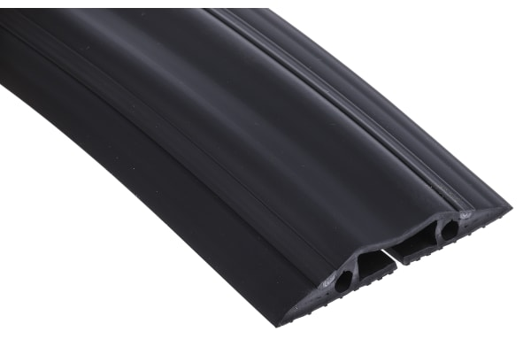 Product image for RS PRO Cable Cover, 30mm (Inside dia.), 83 mm x 1.8m, Black