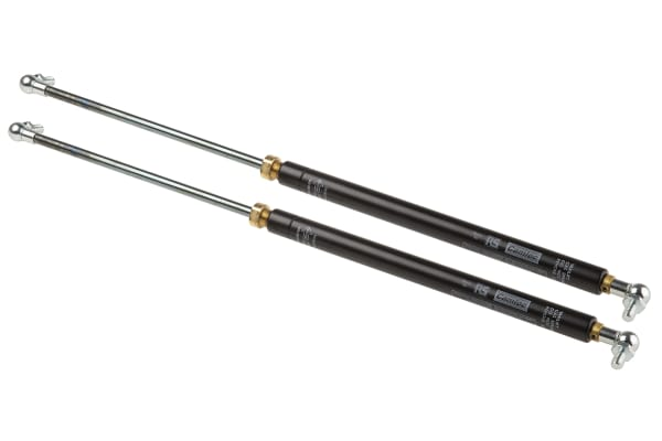 Product image for Camloc Steel Gas Strut, with Ball & Socket Joint 200mm Stroke Length