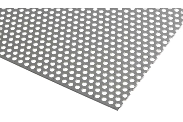 Product image for Perforated 304 s/steel sheet,3mm dia