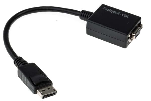 Product image for 15cm Display Port M - VGA F Adaptor - Bl