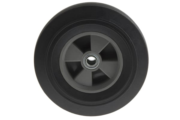 Product image for Solid rubber, sack barrow wheel, recesse