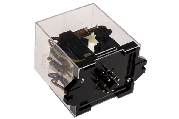 Product image for 8 pin DPDT ratchet relay,5A 24Vdc coil