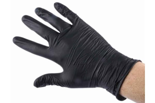 Product image for Powder Free Nitrile Gloves Black S