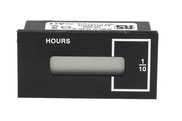 Product image for 2 WIRE HOUR METER,12-48VDC/20-60VAC