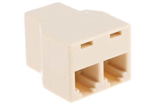 Product image for 6 way female to 2 female RJ11 adaptor