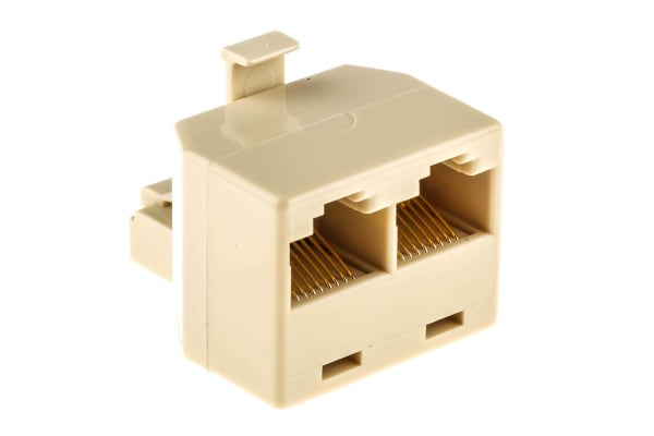 Product image for 8 way male to 2 female RJ45 adaptor