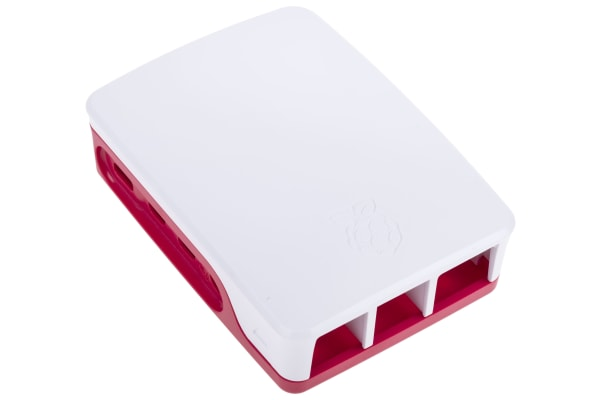 Product image for RASPBERRY PI 4 CASE RED/WHITE
