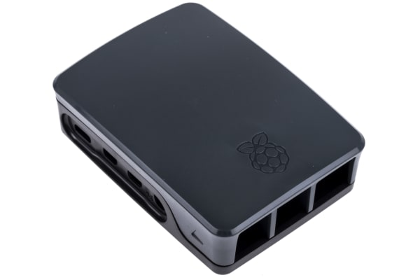 Product image for RASPBERRY PI 4 CASE BLACK/GREY