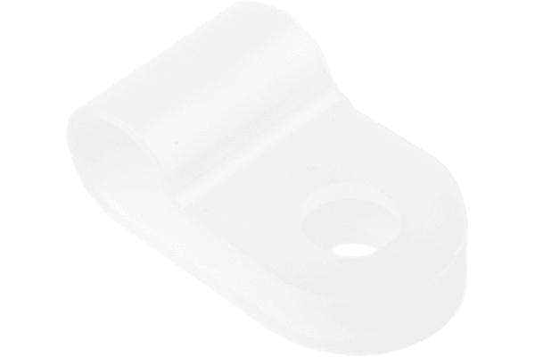 Product image for Natural Nylon P-clip, 5mm Bundle Dia