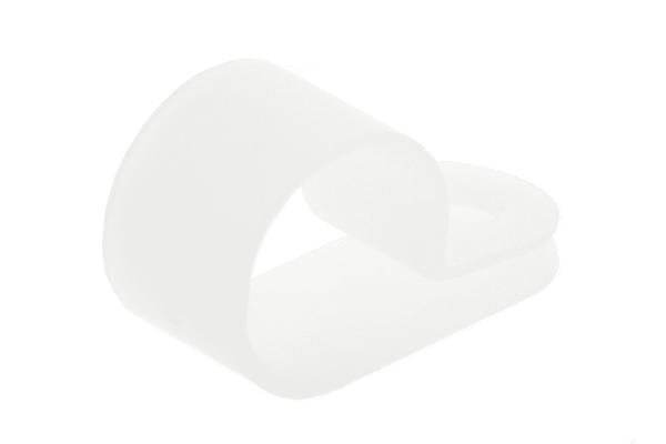 Product image for Natural Nylon P-clip, 12.5mm Bundle Dia