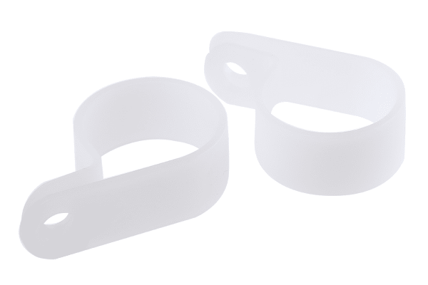 Product image for Natural Nylon P-clip, 22mm Bundle Dia