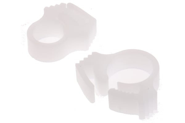 Product image for White cable snapper clip,5.8-6.5mm dia