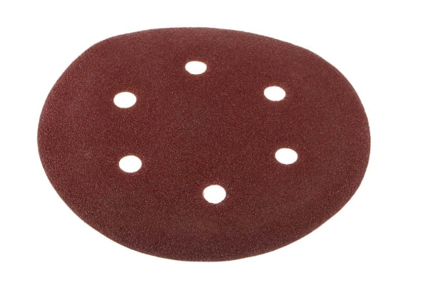 Product image for 150MMX80G HOOK &LOOP SANDING DISC 6 HOLE