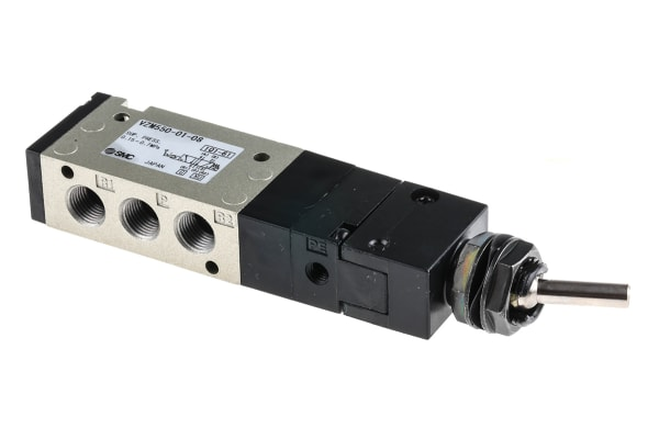 Product image for 1/8 5/2 mechanical toggle valve