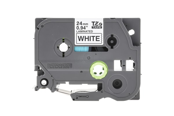 Product image for Brother Black on White Label Printer Tape, 24 mm Width, 8 m Length