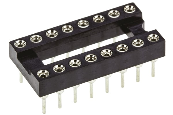 Product image for 16 WAY TURNED PIN DIL SOCKET,0.3IN PITCH