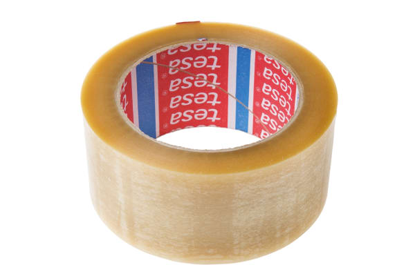 Product image for CLEAR HEAVY DUTY PVC TAPE,66M L X 50MM W