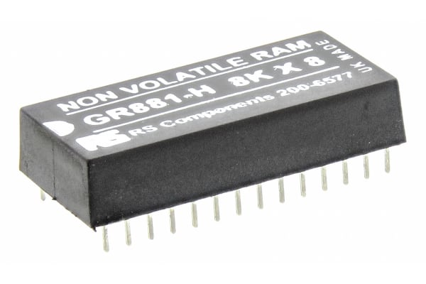 Product image for Greenwich Instruments 64kbit 70ns NVRAM, 28-Pin PDIP, GR881-HT