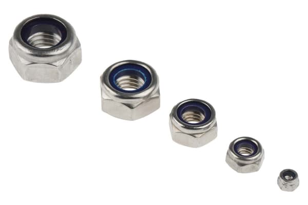 Product image for A2 s/steel metric self locking nut kit