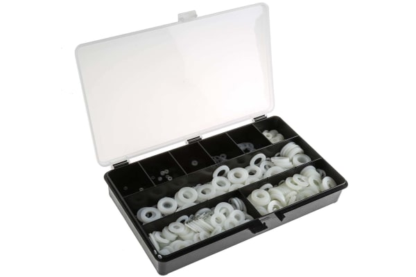 Product image for 1500 piece nylon metric washer kit