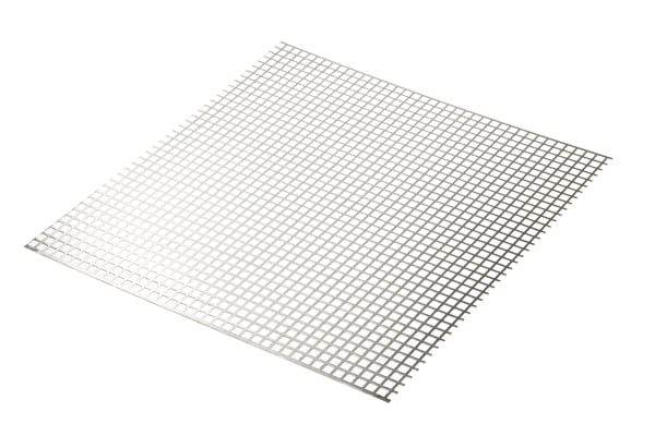 Product image for Perforated Al sheet,10mm square 0.5x0.5m