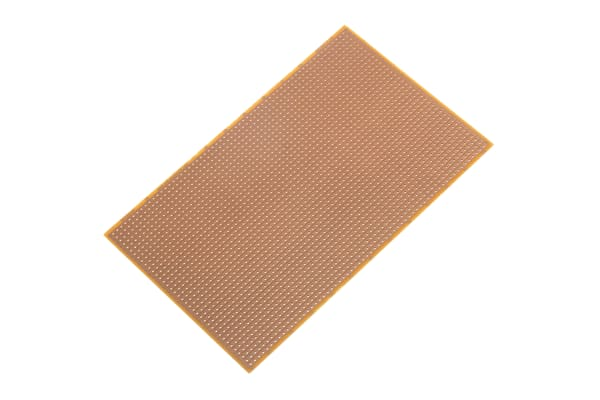 Product image for RE520-HP, Single-Sided Stripboard FR-2 100 x 160 x 1.5mm FR2