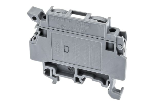 Product image for Entrelec, MA, 630 V Fused DIN Rail Terminal, Screw Termination