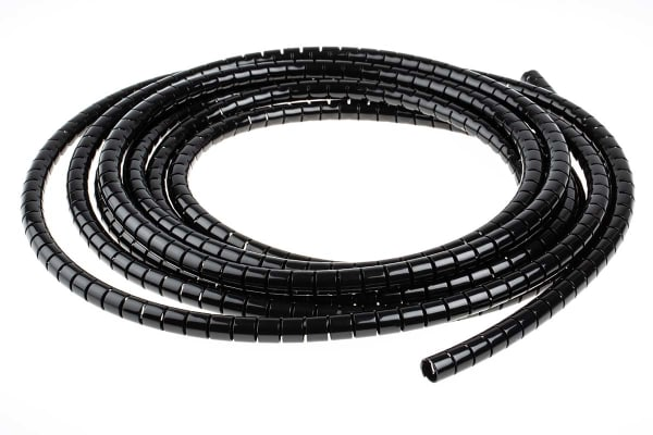 Product image for Black slit harness wrap,8mm dia