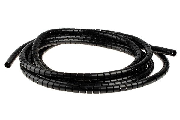 Product image for Black slit harness wrap,15mm dia