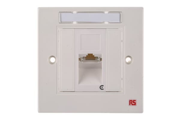 Product image for 1xRJ45 shielded Cat5e angled faceplate