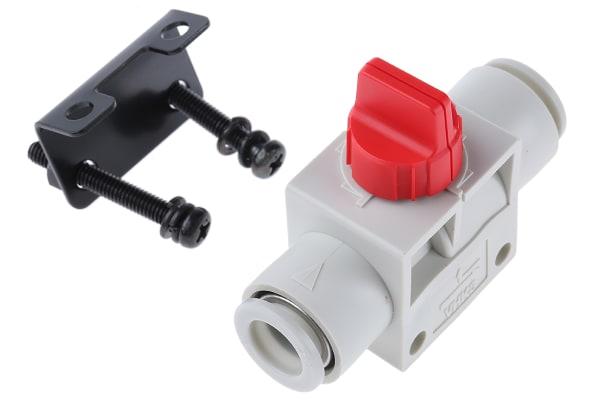 Product image for 10MM 3/2FINGER VALVE W/RED KNOB &BRACKET
