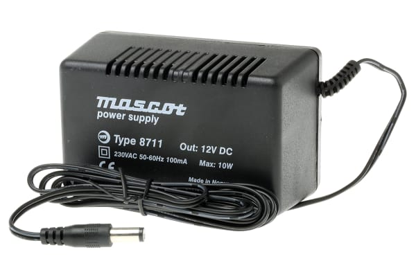 Product image for MAINS ADAPTER,PLUG-IN,ACDC,833MA,12VDC