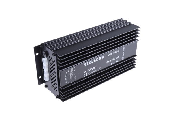 Product image for 100W Fixed Installation Car Power Adapter, 12V dc / 24V dc