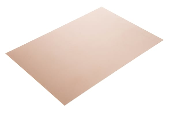 Product image for COPPER PCB, FR4, 2 SIDED, 300X200X1.6MM