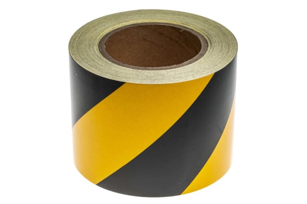 Product image for Blk/yel BS1710 reflective tape,100mmx25m