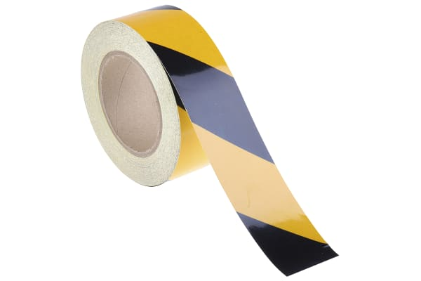 Product image for Blk/yel BS1710 reflective tape,50mmx25m