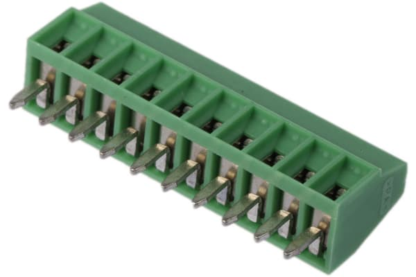 Product image for 10WAY PCB VERTICAL MOUNT TERMINAL,2.54MM