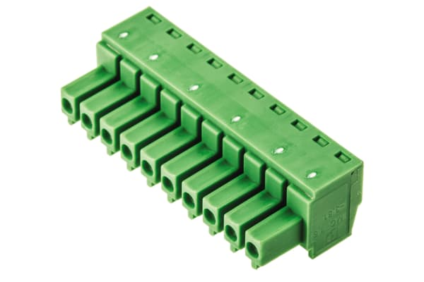 Product image for 10WAY SCREW TERMINAL,8A 160V3.81MM PITCH