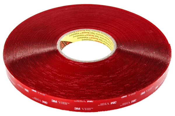 Product image for 3M 4910F, VHB™ Clear Foam Tape, 19mm x 33m, 1mm Thick