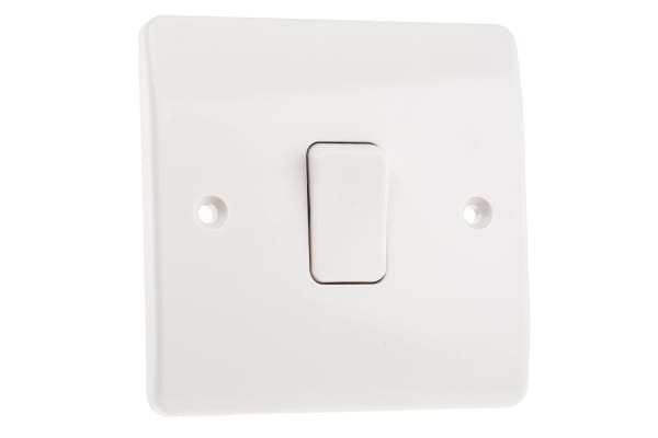 Product image for 10A SWITCH1 GANG 2 WAY WHITE LOGIC PLUS