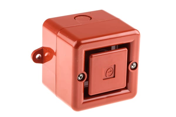 Product image for e2s A100 Red 32 Tone Electronic Sounder ,230 V ac, 104dB at 1 Metre, IP66